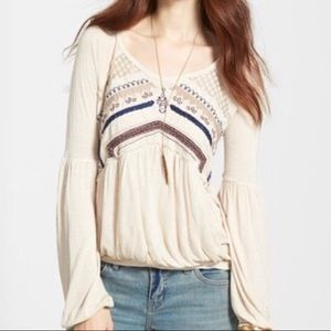 Free People New World In the Flowers Top M